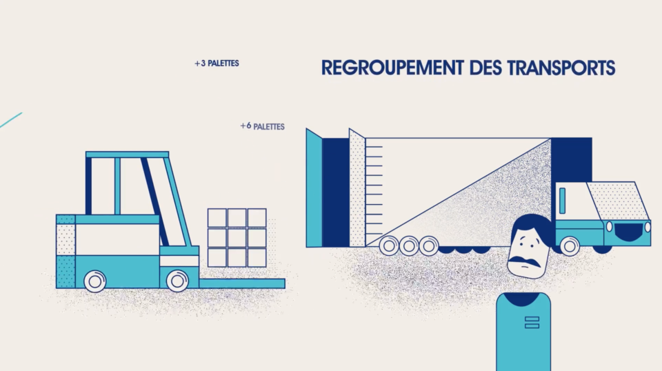 Spot vidéo en motion design pour la société CGVL. Motion graphics, vidéo, paris, constance rollet, stanzy studio, adobe after effects, adobe illustrator, business, transport, truck,